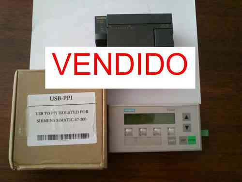 Lote Siemens S7 200 CPU+Panel+Cable